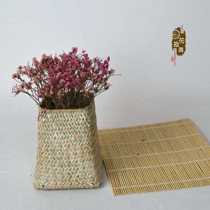 Засушенные цветы Ваза цветка чисто ручной тканые плетеные цветок внешней торговли домашняя мебель мода высушенный цветок цветок цветочная композиция корзина