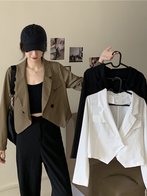 taobao agent Early spring wild design sense ladies short small suit jacket 2021 spring and autumn new casual work clothes jacket women