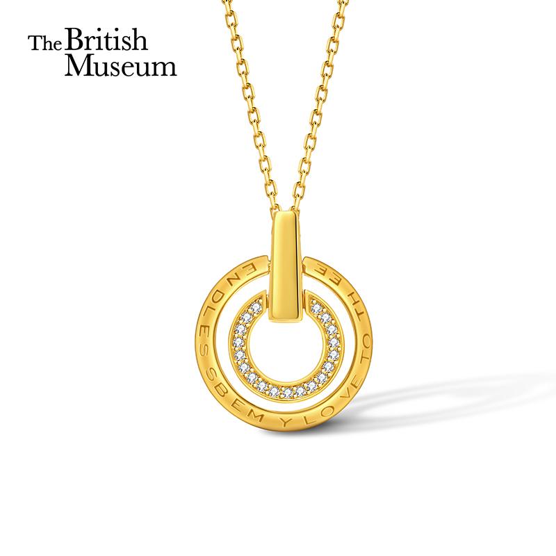 大英博物馆项链女夏纯银2021年新款锁骨链轻奢小众纪念礼物送女友
