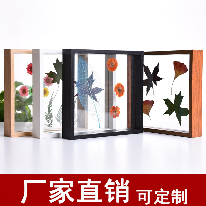 Creative diy dried flowers leaves feathers plant specimen box box ...