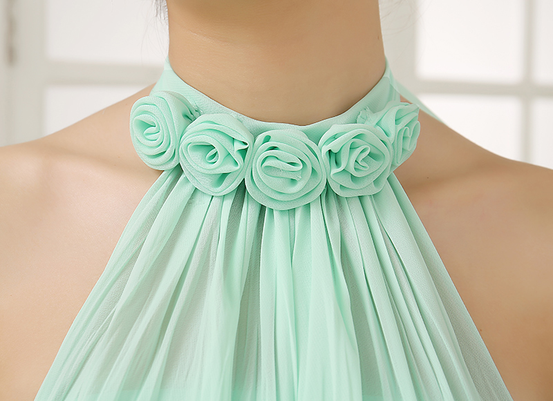 Cheap Wedding Dresses With Color: Cheap Mint Color Dresses Long Chiffon A Line Sweetheart