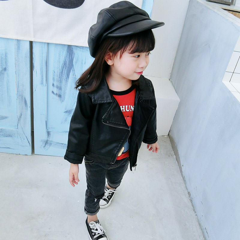 3640d63c7 USD 18.17  Girls   clothing autumn Korean casual children s leather ...