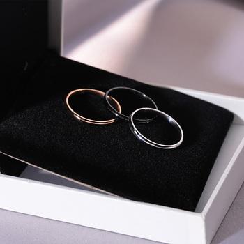 Кольца, перстни,  Свет экстравагантный холодный свет ветер titanium кольцо женщина мода личность простой корейский сдаваться круг хвост сдаваться еда палец студент ins любители, цена 72 руб
