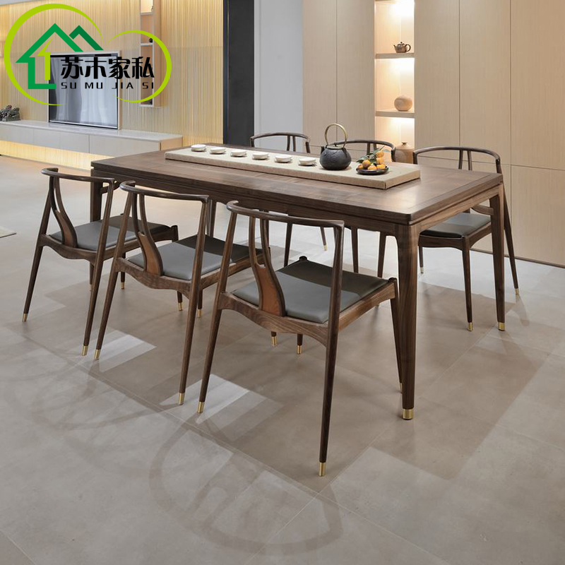 Usd 275 80 New Chinese Restaurant Solid Wood Table And Chair Combination Rectangular One Table Six Chair Dining Table Zen Simple Home Dining Table Wholesale From China Online Shopping Buy Asian