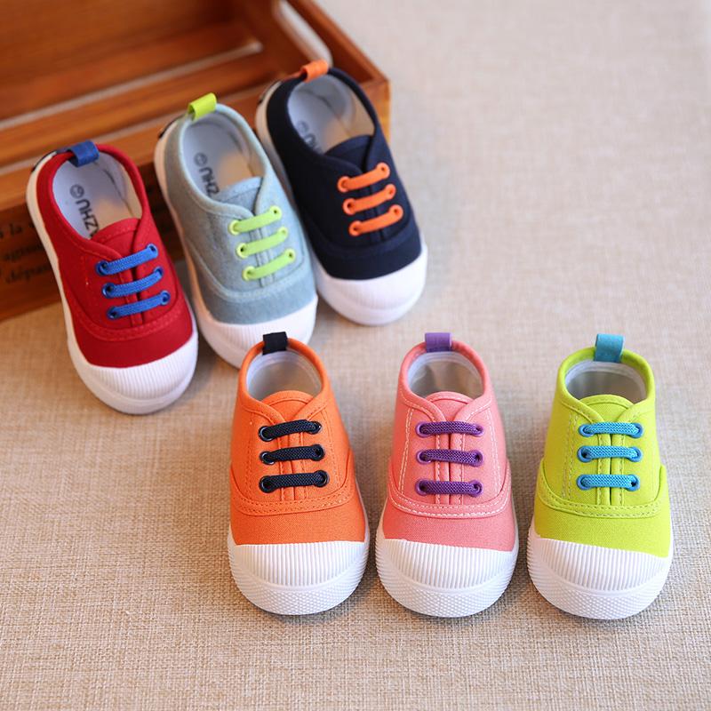 春秋兒童帆布鞋男童女寶寶球鞋板鞋小童單鞋鞋子1-3歲2懶人一腳蹬