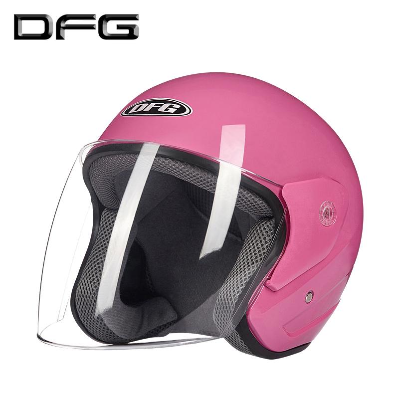 DFG摩托车头盔男电动电瓶车头盔女士四季冬季保暖半盔通用安全帽