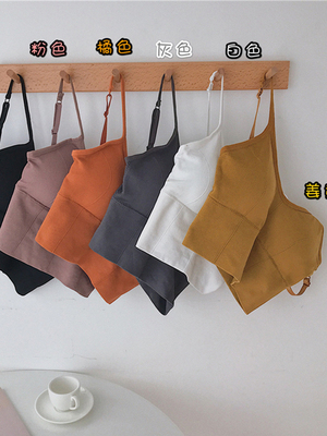 taobao agent Small camisole women's summer beauty back European and American hot girl style inside and outside wear with chest pad short top ins tide