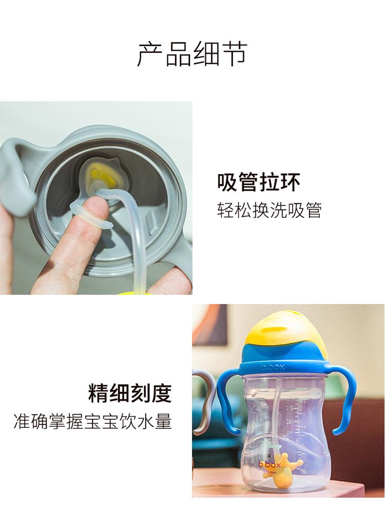 吸管杯婴儿学饮杯重力球水杯宝宝喝水杯儿童喝奶杯迪士尼详细照片