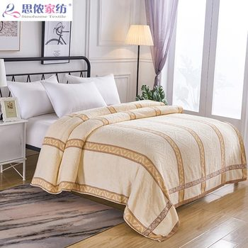 Double thick cotton towel cotton nostalgic old-fashioned single lunch break blanket blankets towel blanket sheets