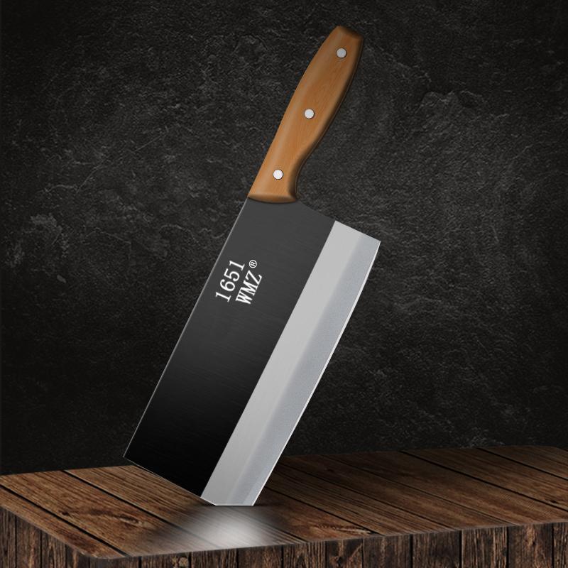 WMZ菜刀家用厨师专用刀具超快锋利老式铁刀厨房切肉切菜刀正品