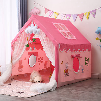 Children's tent play house indoor princess girl boy home princess house can sleep reading car small house