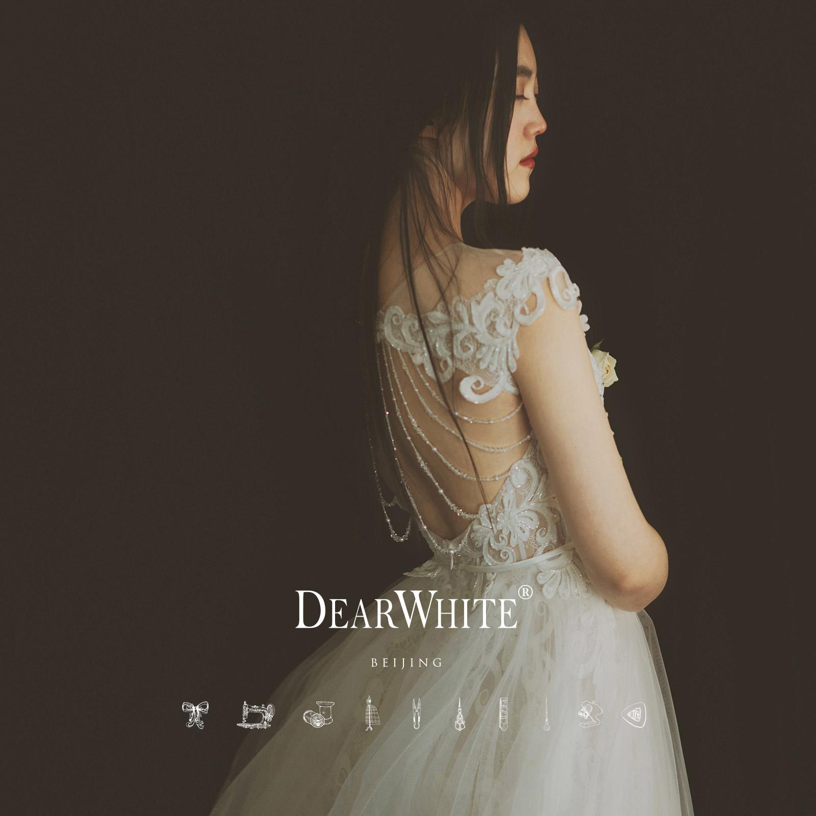 """Близко любовь уайт-плейнс создание подлинного """" алый месяц «DearWhite свадьба молния бригада бить газон кружево свет свадьба"""