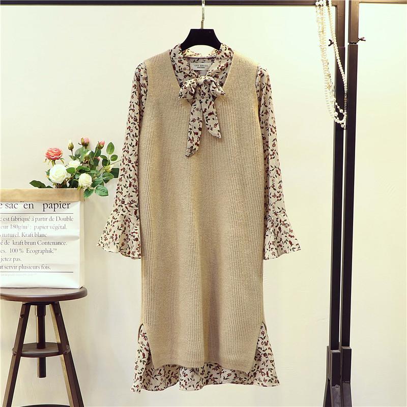 毛衣马甲女套头中长款春秋季韩版宽松V领背心无袖针织衫外套加厚