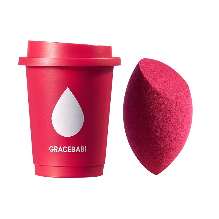 新款Gracebabi酒红美妆蛋