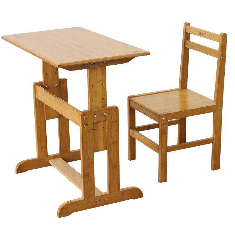 Amazing Bamboo Under The Desk Student Desk Chair Set Primary School Gmtry Best Dining Table And Chair Ideas Images Gmtryco