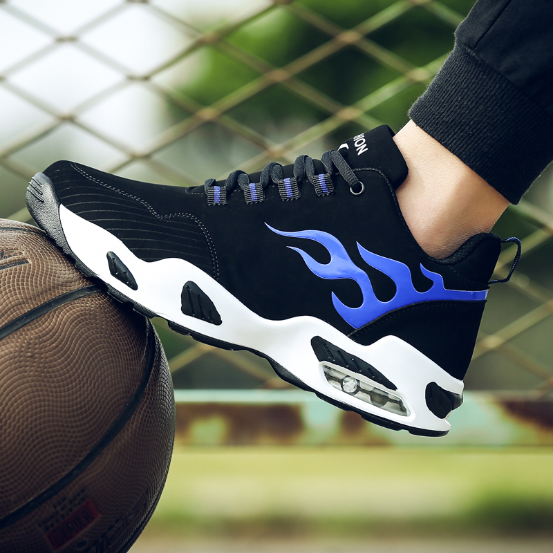 8119 черный синий ( воздушная подушка обувной )