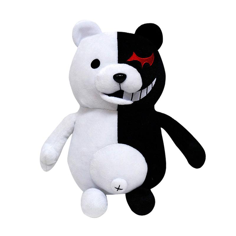 美琦动漫弹丸抱枕论破黑白熊校长公仔毛绒玩偶cos游戏二次元周边