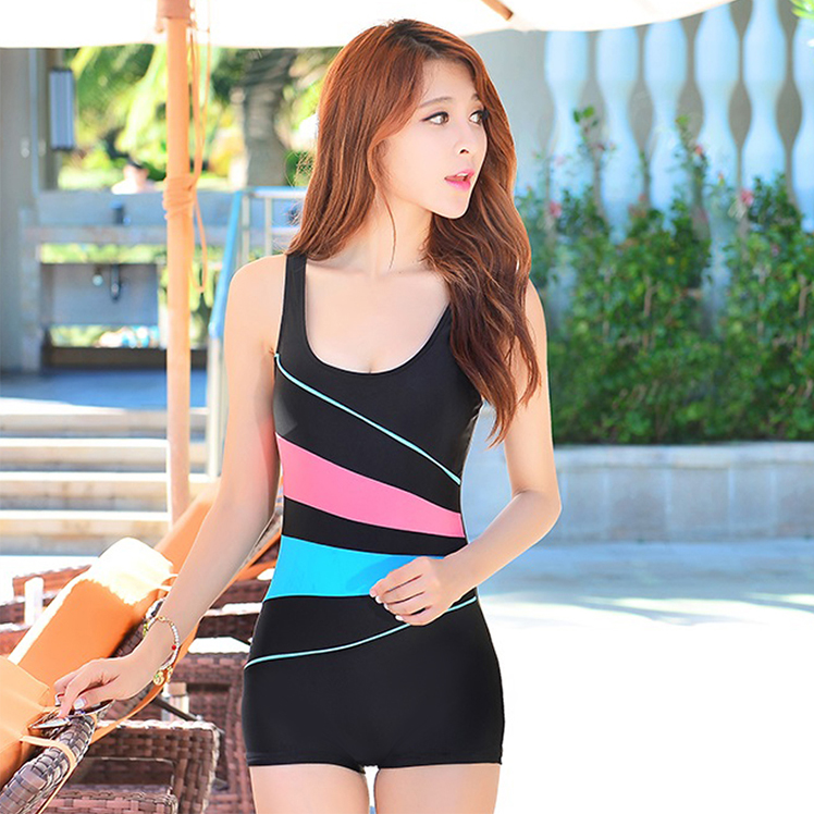 ad6b8d6431 Swimsuit female 2019 new one-piece skirt small chest gathered sexy ...