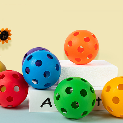 儿童手抓球洞洞球婴幼儿早教感统训练玩具球颜色认知益智