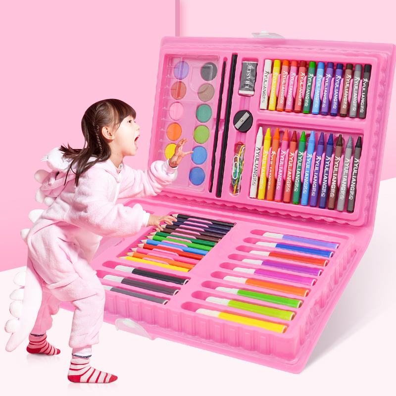 108 PIECES OF PINK PAINTING SET + GIFT BAG  BUY ONE GET 17