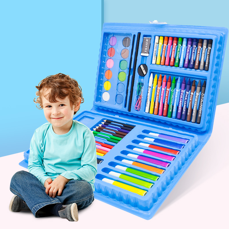 108 PIECES OF BLUE PAINTING SET + GIFT BAG  BUY ONE GET 17