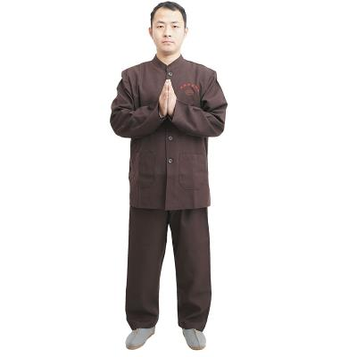 Buddhist supplies direct brown dress robes lay men and women short-sleeve dress four seasons paragraph Meditation