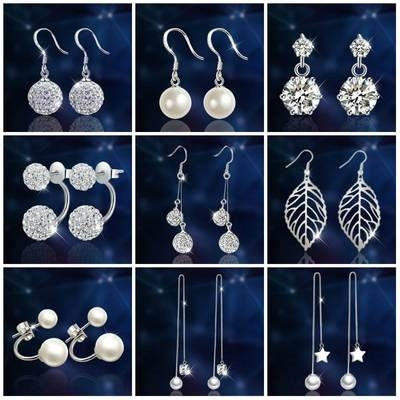 Pearl creative a pair this year popular ear jewelry 2019 earrings girl with ornament female stars