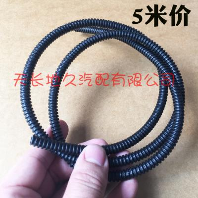 Inner diameter 5mm automotive wiring harness sleeve PP flame-retardant high-temperature heat-insulation soft threaded threaded pipe automotive corrugated pipe 5 meters