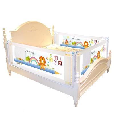 Giường trẻ em mùa hè giường trẻ em hàng rào giường có thể thu vào vách ngăn lan can giường nâng cực mới chống rơi có thể nâng - Giường trẻ em / giường em bé / Ghế ăn