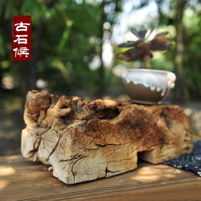 Old wooden pier wooden shaft weathered old wooden pier base high weathered arts and science Japanese landscape accessories ornaments tea tea