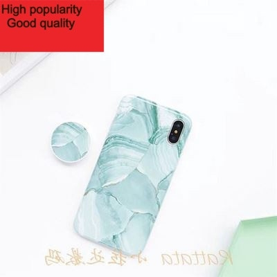 Fissure marble cover case iPhone XS MAX 7 8 6S plus bracket