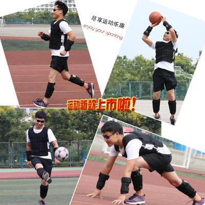 Cố định kilogam tay trẻ em đặc biệt nam và nữ có thể điều chỉnh vest quần áo thể thao thiết bị áo ghi lê chịu trọng lượng vest sắt - Taekwondo / Võ thuật / Chiến đấu