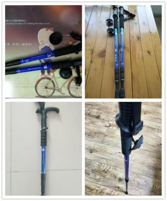 Portable cane mountaineering outdoor travel turns to fold lightly mountaineering
