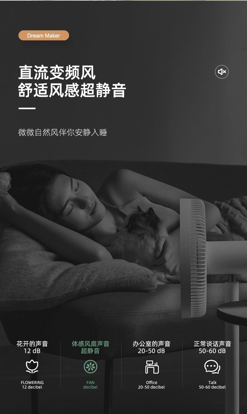 小米生态链 造梦者 100档智能体感风扇 语音控制 图7