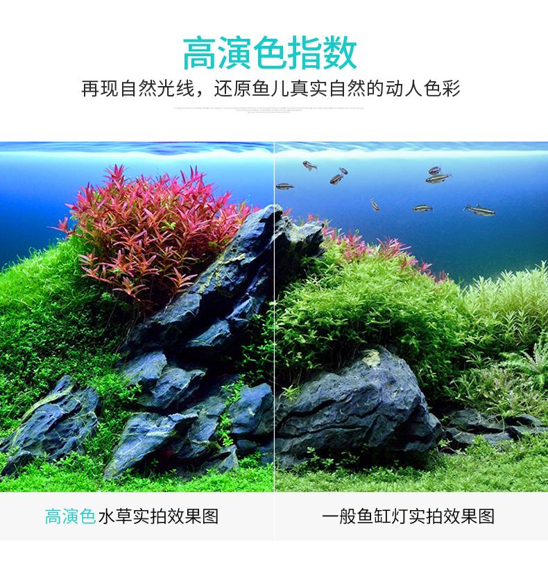 鱼缸节能灯专用照明灯乌龟造景防水灯水草灯中小型水族箱架灯详细照片
