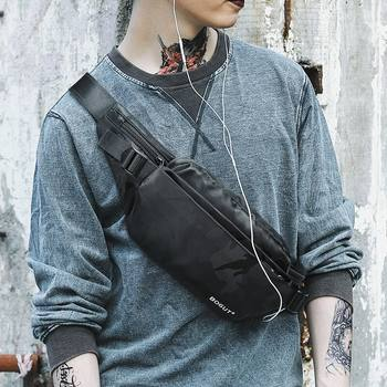 Men's casual bag chest pockets fashionable new Korean men and women outdoor sports Messenger Bag convenient small backpack