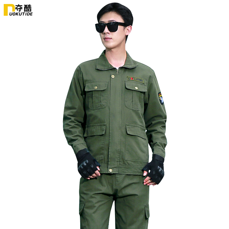 Welder overalls suit male cotton anti-hot flame retardant wear-resistant spring and autumn thick long-sleeved overalls overalls