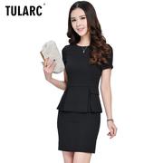 Chuyên nghiệp mặc nữ 2018 mới hương thơm nhỏ cửa hàng đồ trang sức yếm chuyên nghiệp phù hợp với nữ mùa hè ngắn tay màu đen dụng cụ