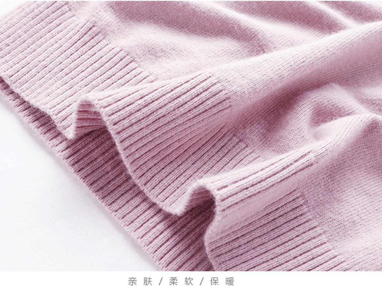 高仿圣罗兰ysl欧美秋冬短款高领加厚羊绒衫QPG365 第20张