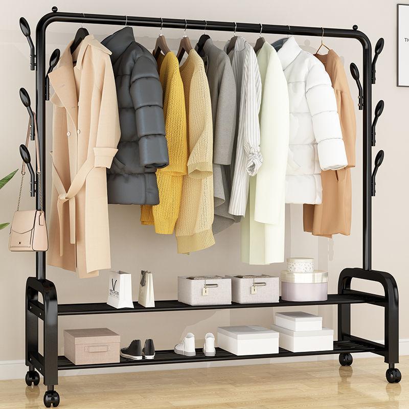 单杆式晾衣架落地简易晾衣杆家用卧室晒衣架