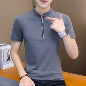 (今日拍下66元)夏季新款男士短袖t恤男修身立领polo衫韩版男装