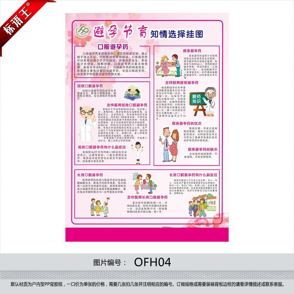 计划生育宣传画海报计生宣传标语避孕节育知情选择挂图OFH04