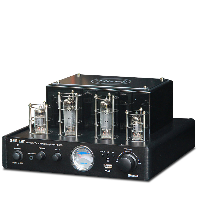 Amplifier Tube Amp Audio Combination Fever HiFi Bookshelf Speaker Set USB Lossless Bluetooth Player