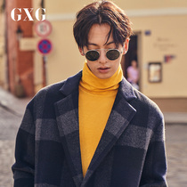 GXG mens clothing 2018 Winter new Korean version of fashion blue Grey