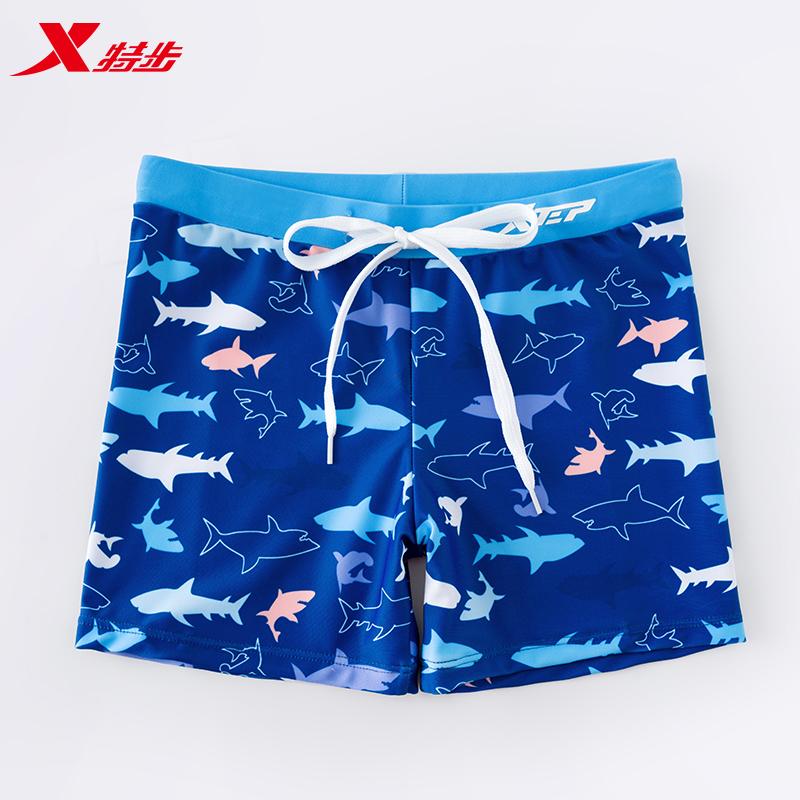 特步新款速干平角儿童泳衣