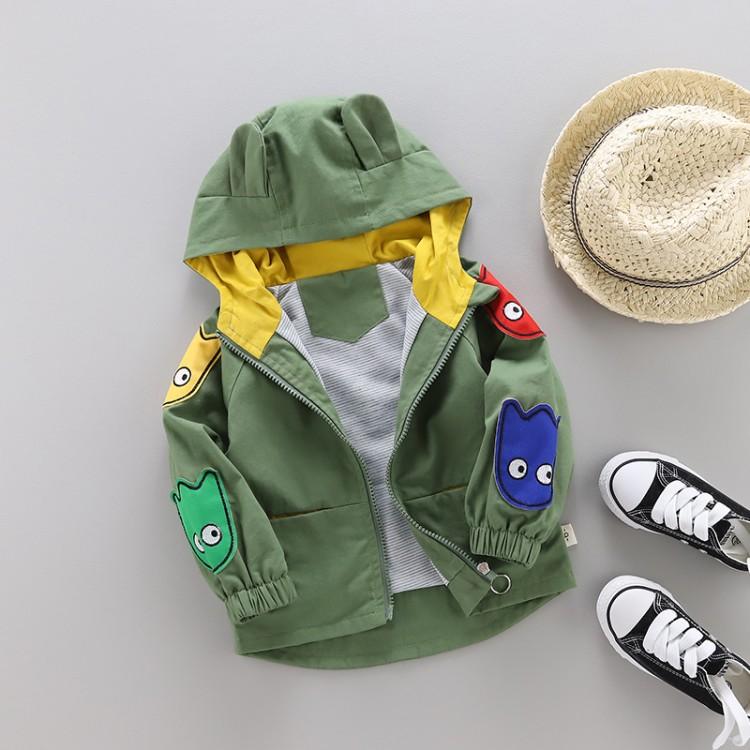 男童宝宝春秋装外套中小童儿童风衣大衣夹克洋气外套上衣1-4-6岁