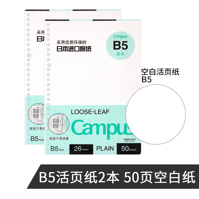 Loose-leaf Paper B5 50 Pages Blank 2