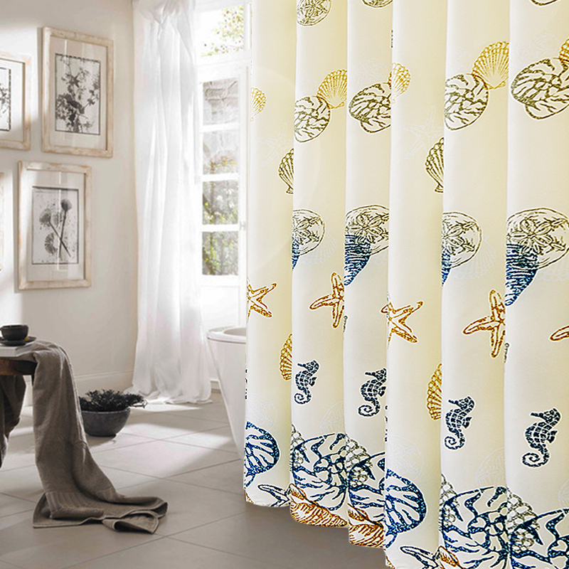Thickened Shower Curtain Bathroom Waterproof Shade Curtains 180 200 Made