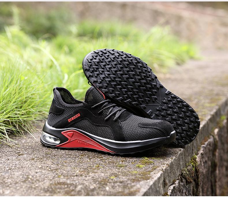 giày an toàn làm việc giày cho nam giới Deodorant thở mùa hè nhẹ chống đập chống xuyên Baotou Steel mặc an toàn mềm đế