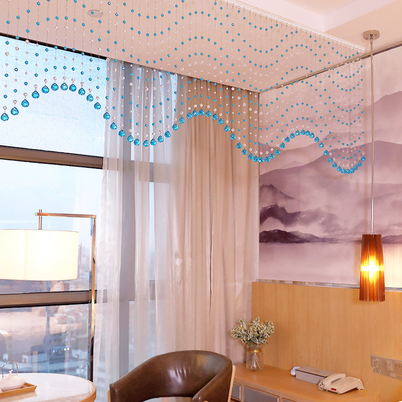 Crystal bead curtain living room porch partition curtain aisle ...